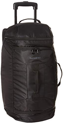 Samsonite Andante 2 Drop Bottom Wheeled Rolling Duffel Bag, All Black, 22-Inch