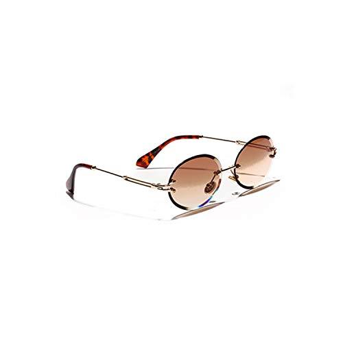 Sport-Sonnenbrillen, Vintage Sonnenbrillen, Rimless Oval Women Sunglasses NEW Men Gradient Transparent Sun Glasses Retro High Quality Eyeglasses Fashion Trendy 80 C5