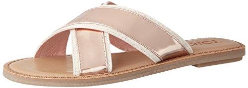 Toms Women's Rose Gold Specchio Women's Viv Sandals in Size 36.5 Gold