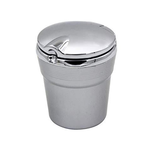 jbshop Ceniceros Cenicero for Auto Personal Cenicero de Oficina en el hogar con Cubierta Cenicero extraíble Ceniceros portátiles (Color : Silver)
