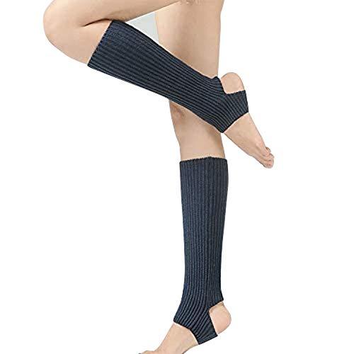 Calentadores de invierno para mujer, calcetines de yoga, calcetines de punto, calcetines de punto, calcetines de ganchillo hasta la rodilla, para prevenir el frío