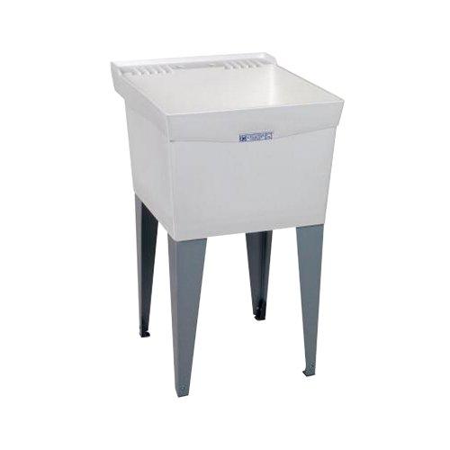 El Mustee 19F Utilatub 18-Gallon Floor-Mount Laundry/Utility Tub, 34 X 20 X 24 In, White