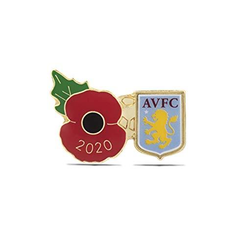 The Royal British Legion Aston Villa Poppy Football Pin 2020