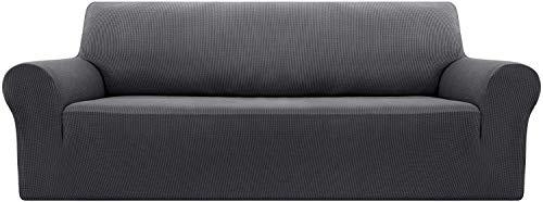 H-CAR 3 Sitz Sofabezug Elastic Protector für Möbel Grau