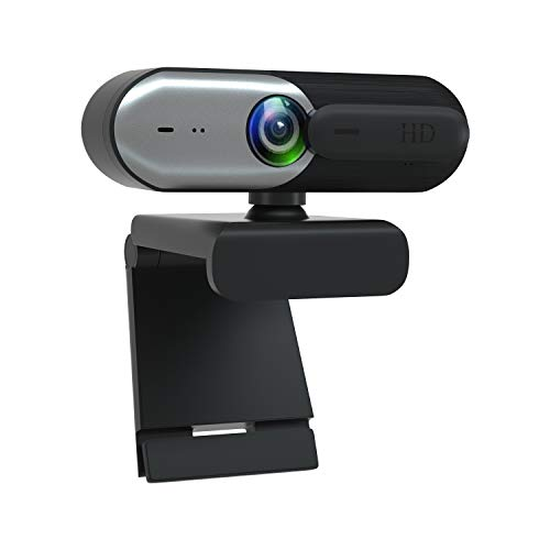 Hulier Webcam with Microphone & Privacy Cover, FHD Webcam 1080P