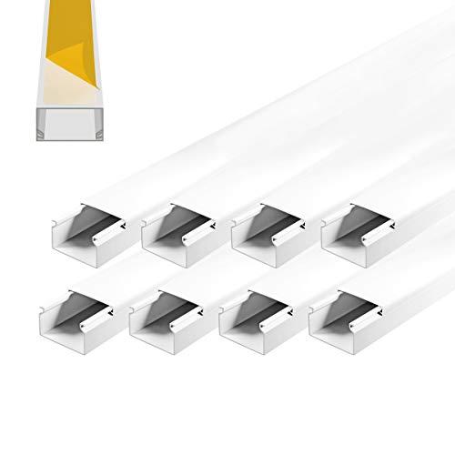 ARLI Kabelkanal selbstklebend 40x25mm PVC 8m Installationskanal Wand und Decken Montage allzweck für aller Art von Kabel innen Haus Büro TV Lautsprecher Telefon Sat Internet Lan