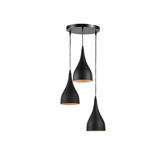 Lampara de arana de tres cabezas de estilo nordico moderno, lampara de arana de dormitorio de comedor Lamparas de goteo XYJGWDD