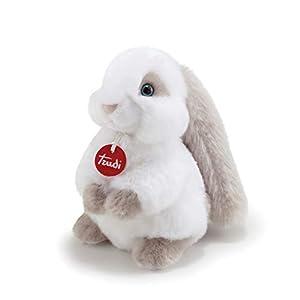 Trudi- Peluche conejo, Color blanco/gris (23704)