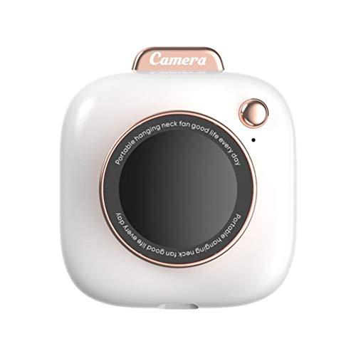 Ventilador creativo con forma de cámara para colgar en el cuello, carga USB, ventilador portátil, mini ventilador personal para casa, oficina, viajes al aire libre