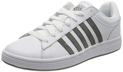 K-Swiss Mens Court Winston Sneaker, White/Charcoa, 43 EU