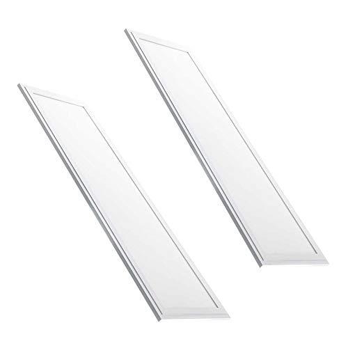 Silamp 2 paneles LED 120 x 30 48 W borde blanco fino con controlador incluido Fredda 6400k