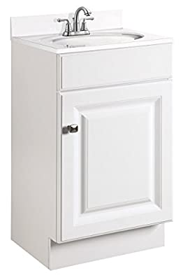 Design House 597112 Wyndham Unassembled Bathroom Vanity Cabinet without Top, Retail Packaging, White