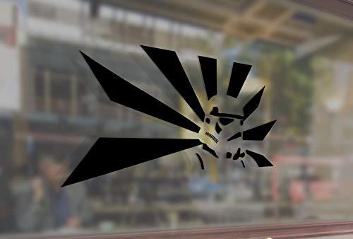 Lplpol - Vinilo adhesivo antipolvo, diseño de Stormtrooper Star Wars Art vinilo pegatinas divertidas para parachoques de coche, ordenador, portátil, pared de cristal, 6 pulgadas