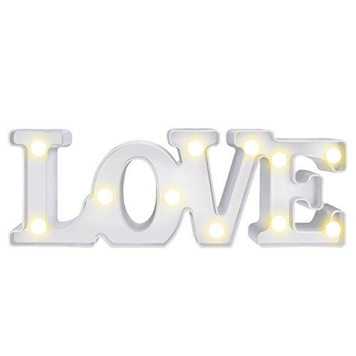 MOOKLIN Veilleuse lovely LED Lampe de chevet Blanc chaud Lumière de Nuit pour Ambiance Soirée Cadeau Anniversaire Cadeaux de noël (LOVE)
