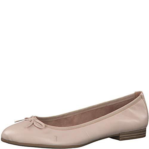 Tamaris Damen Ballerinas 22116-24, Frauen KlassischeBallerinas, Women Freizeit leger Flats sommerschuh elegant Schleife Lady,Rose,39 EU / 5.5 UK