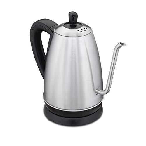 Hamilton Beach Gooseneck Pour Over Electric Tea Kettle, Water Boiler & Heater, 1.2 L, Cordless, Auto-Shutoff & Boil-Dry Protection, Stainless Steel (40899)