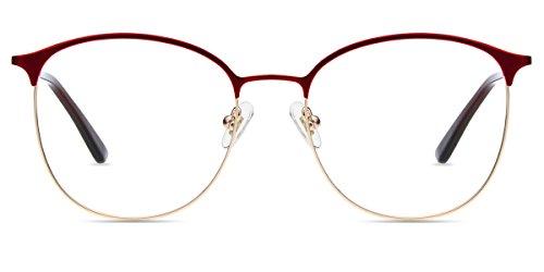 Firmoo Schutzbrille für Herren und Damen, blauer Bildschirm, UV400, gegen Ermüdungserscheinungen, Anti-Reflexionsbrille, Brille, Gaming-Brille, für Computer / Telefon / Tablet / Videospiele, Rot
