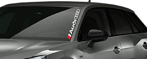 Artstickers4U Windschutzscheiben Dekor Heckscheiben passt zu Audi Auto 60cm Aufkleber Sticker / Plus Schlüsselringanhänger aus Kokosnuss-Schale / Tuning Hoonigan A1 A3 A5 A6 TT Q3 Q5 Quattro S Line