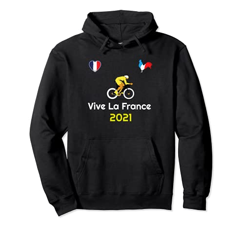 Vive La France French Slogan Love Bicycle Racing Summer 2021 Pullover Hoodie