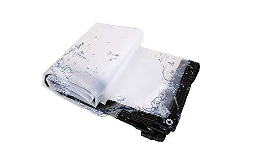 ETNLT-FCZ Toldo Clear Tarpaulin Transparente Tela Impermeable, Espesa el Borde con Metal Resistente al desgarro Ojal Claro Tela de plástico, a Prueba de Polvo Anti-Edad hidratante, Multi Purpose