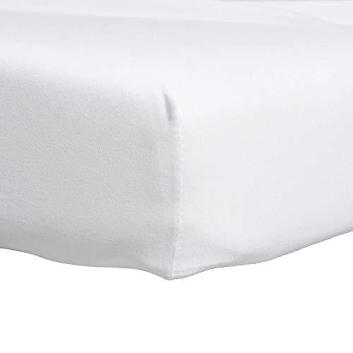 Proheeder eenpersoons lakens - sprei 100% katoen Jersey wit 190 x 90 x 20 cm - Made in Portugal - Set van 2
