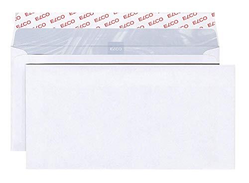 Elco 60281 Boite de 500 enveloppes sans fenêtre Format DL Blanc