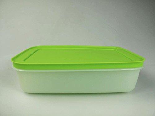 TUPPERWARE Gefrier-Behälter 1L flach Eis-Kristall G36 Eiskristall weiß grün 14168