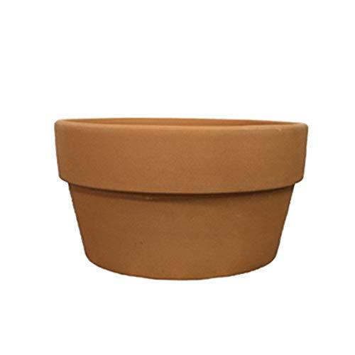 Hpera Vasi di Terracotta Vasi per Fiori Terracotta Piccola Pianta in Vaso Esterno in Ceramica Vasi di Piante All'aperto Vasi di Piante Vasi da Interno 15cm