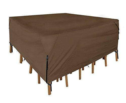 Leader Accessories 600D PVC Tough Canvas 100% Waterproof Square/Round Patio Table & Chair Set Cover Size S 60'(L) x60(W) x30(H)