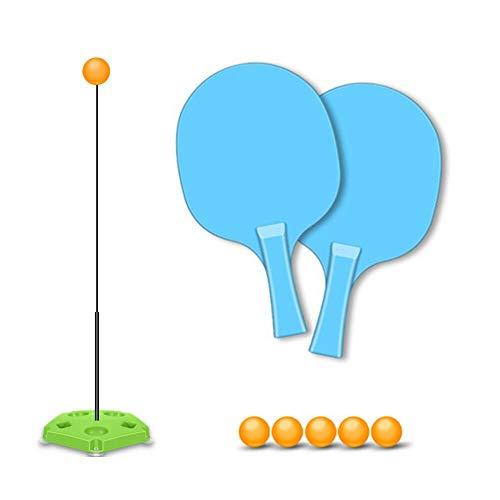 LARRY-X Tischtennistrainer-Set mit 2 Schlägern und 5 Pingpong-Bällen Höhenverstellbarer Tischtennistrainer Saugplatten-Version Perfekt für Familienfreizeit-Coaching