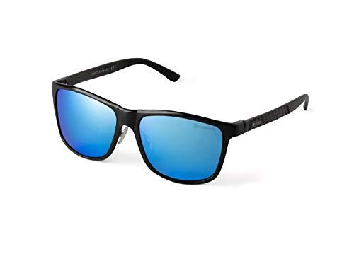 SUNFADER Occhiali Da Sole 2021 Uomo Donna (Blu) Lenti Polarizzate Desing Itaiano Montatura Metallo Leggero Eleganti