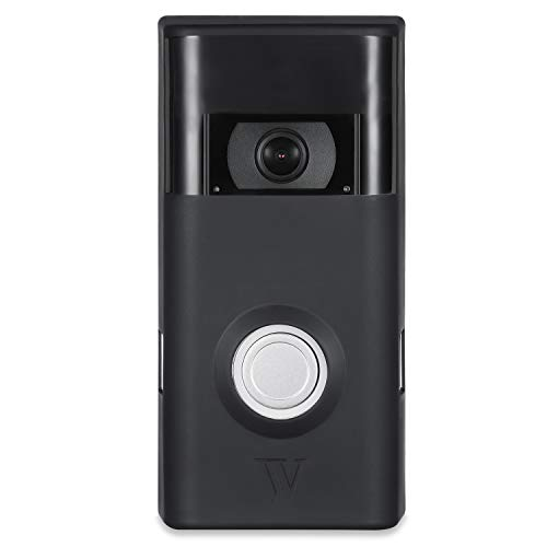 Colorful & Protective Silicone Skins for Ring Video Doorbell 2 - Protect and Camouflage Your Ring Video Doorbell 2 with These UV Light- and Weather Resistant Silicone Skins (Black)