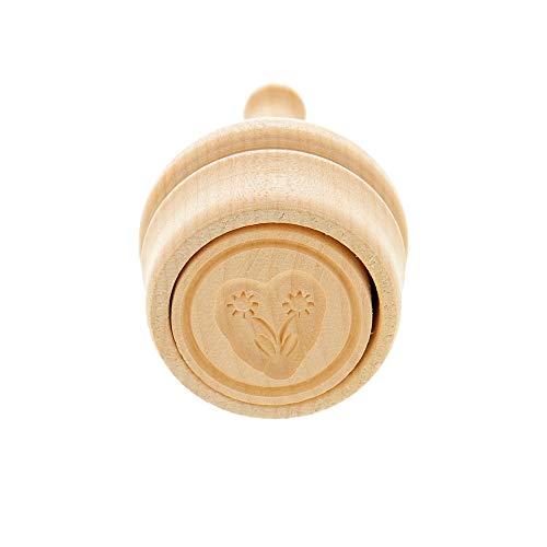 HOFMEISTER® Butter-Stempel, für 30 g Butter, 5 cm, Herz, handgefertigt in Deutschland, Butter-Form zum Dekorieren, runde Durchstoß-Form, Butter-Model aus heimischem Ahorn-Holz