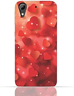 HTC Desire 626/628 TPU Silicone Case with Seamless Heart Pattern Design.