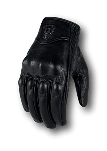 ICON Guantes De Piel Motociclista Pursuit Stealth Glove (Grande)