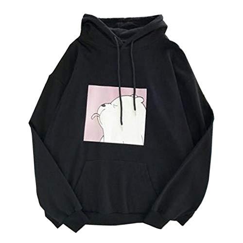 OEAK Damen Kapuzenpullover mit Taschen Hoodie Langarm Sweatshirt Kapuzenpulli Freizeit Einfarbig Langarmshirt Top Oberteile