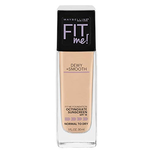Maybelline Fit Me Dewy + Smooth Foundation SPF 18 - 125 Nude Beige - 1 fl oz