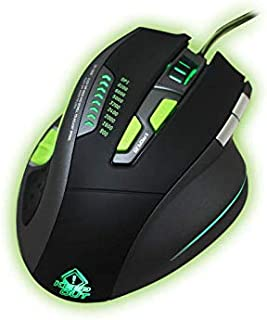 Keep Out Gaming X9PRO - Ratón Gaming láser (hasta 8200 dpi), 9 Botones, USB, Cable Nylon 1'8 Metros, Iluminación Led RGB, Color Negro y Verde