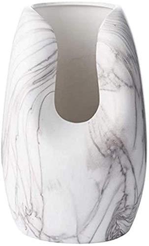 Vasen Keramik handgefertigt Handwerk Marmor Welle Flasche Büro TV-Schrank Esstisch Dekoration Home D & Eacute; COR (Größe: 34 * 15cm)