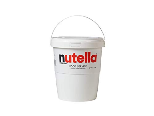Nutella Chocolate Hazelnut Spread, Bulk Size for Food Service 6.6 lb Tubs, Case of 2
