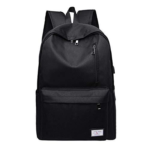 VICTOEWomen's Rugzak Reistas mannen effen kleur rugzak slanke minimalistische studententas laptop tas grote capaciteit rugzak