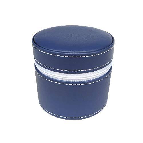KHUY Relojero Hombre Organizador Organizador Malla Premium Travel Estuche para Relojes Hombres, Cajas Relojes Leather Watch Organizador, Regalos Estuche Relojes Mujer Viaje (Color : Blue)