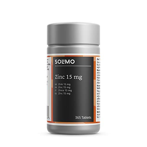 Amazon Brand - Solimo Zinc 15 mg Food Supplement, 365 Tablets