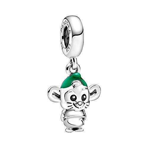 Pandora Disney - Ciondolo a forma di topo, in argento sterling, 7,5 x 15,2 x 15,6 mm