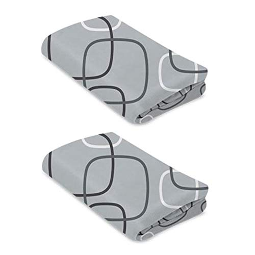 Find Discount Breeze Playard Sheets, Waterproof and Machine Washable, Silver/White (Pack of 2)