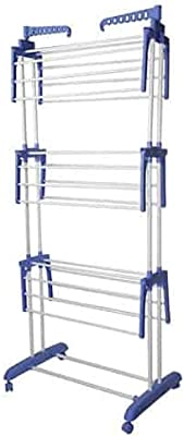 NISHTHA ENTERPRIZE Steel Floor Cloth Dryer Stand (3 Tier)