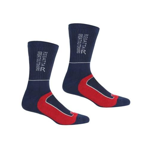 Regatta Herren Samaris 2 Season Socken, Herren, Socken, RMH046, Marineblau/Dunkelrot, M