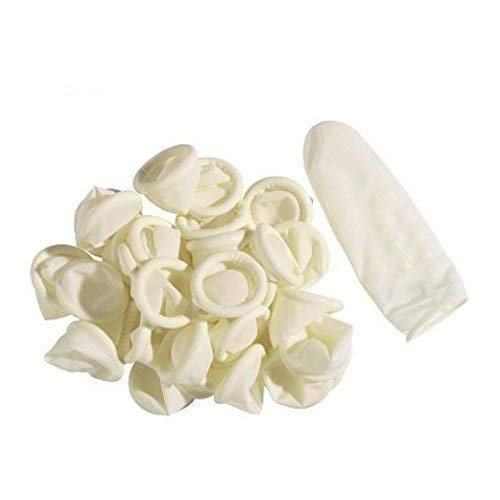 Disposable Latex Finger Cots Rubber,140g(Approx.205PCS) Fingertips Protective Finger Gloves Art Latex Tissue Finger Cot
