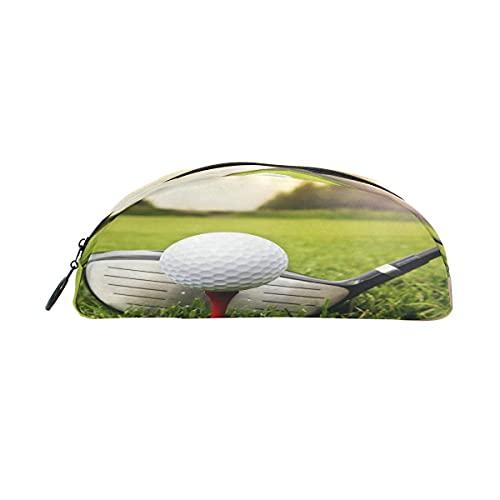 Estuche para lápices de golf deportivo con cremallera, bolsa de maquillaje, para niñas, niños, adolescentes, adultos, escuela, estudiantes, suministros de oficina