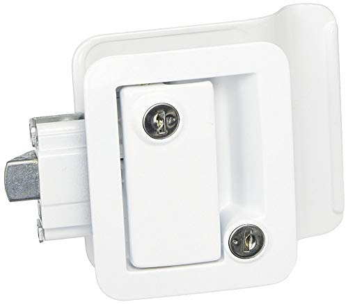 Travel Trailer Lock, White